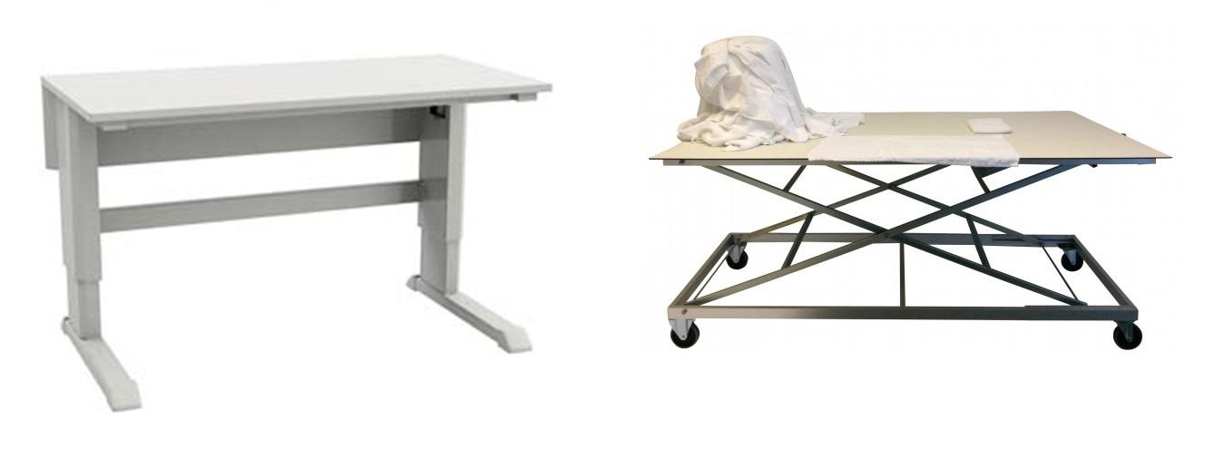 table travail hauteur reglable
