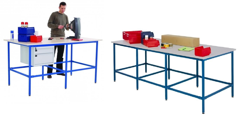 Plan De Travail Hauteur table de travail   table d'atelier industriel   mobilier